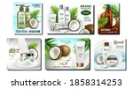 coconut cosmetics promotion...   Shutterstock .eps vector #1858314253