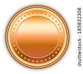 round bronze vector medal with... | Shutterstock .eps vector #185832308