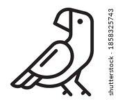 parrot icon design. vector...