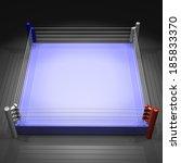 boxing ring on white background | Shutterstock . vector #185833370