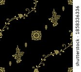 asian cute paisley pattern...   Shutterstock .eps vector #1858336336