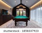 Modern Billiard Room With A...
