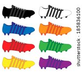 Football Cleats With Stripes I...