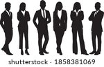 silhouette of business people...   Shutterstock .eps vector #1858381069