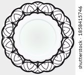 ornamental decorative rosettes  ... | Shutterstock .eps vector #1858415746