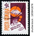 romania   circa 1986  stamp... | Shutterstock . vector #185841878