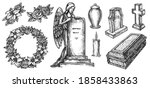 funeral service or mortuary...   Shutterstock .eps vector #1858433863