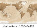 world map   vintage physical... | Shutterstock .eps vector #1858436476