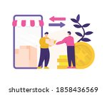 the concept of distributor and... | Shutterstock .eps vector #1858436569