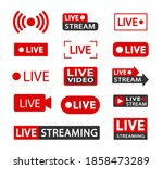 set of live streaming icons... | Shutterstock .eps vector #1858473289