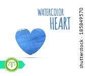 watercolor paint heart. vector   Shutterstock .eps vector #185849570