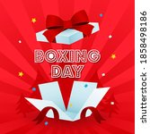 boxing day greeting card vector ... | Shutterstock .eps vector #1858498186