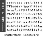 people action icons | Shutterstock .eps vector #185850170