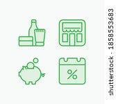 sale storefront money pig... | Shutterstock .eps vector #1858553683