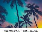 vintage retro filtered hawaii... | Shutterstock . vector #185856206