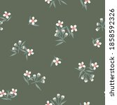 green floral botanical seamless ...   Shutterstock .eps vector #1858592326