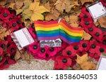 Poppy Wreaths Covered In Fallen ...