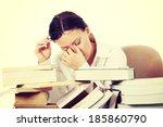 mature woman reading a book | Shutterstock . vector #185860790