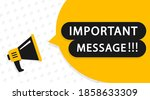 important message attention... | Shutterstock .eps vector #1858633309