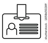 headhunter id card icon.... | Shutterstock .eps vector #1858650289