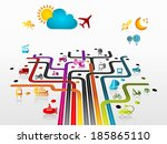 abstract illustration with... | Shutterstock .eps vector #185865110