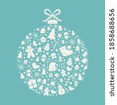 christmas ball. xmas ornament... | Shutterstock .eps vector #1858688656
