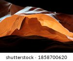 Rocks Looking Like Monument Valley Sunrise At The Upper Antelope Canyon On A Hot Sunny Summer Day - stock photo