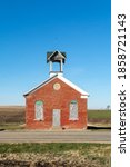 Old One Room Schoolhouse With...