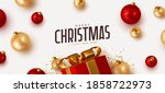merry christmas and happy new... | Shutterstock .eps vector #1858722973