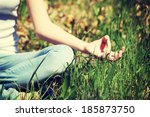 young woman during relaxation... | Shutterstock . vector #185873750