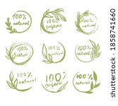 organic and natural vector icon ... | Shutterstock .eps vector #1858741660