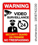 warning 24 hour video... | Shutterstock .eps vector #1858742230