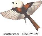 """little bird """"long tailed tit"""" ...   Shutterstock .eps vector #1858794829"""