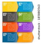 vector template for interface... | Shutterstock .eps vector #185880563