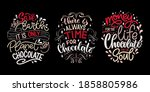 chocolate hand lettering quotes ... | Shutterstock .eps vector #1858805986