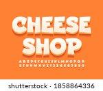 vector stylish banner cheeese...   Shutterstock .eps vector #1858864336