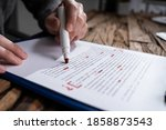 Small photo of Script Proofread And Sentence Grammar Spell Check. Correct Mistakes