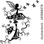 fairy   magic mushrooms  ... | Shutterstock .eps vector #185888378