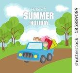 summer vacation background | Shutterstock .eps vector #185889089