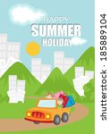 summer vacation background | Shutterstock .eps vector #185889104