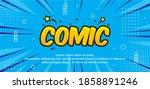 pop art comic background with... | Shutterstock .eps vector #1858891246