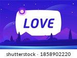 love vector night environment... | Shutterstock .eps vector #1858902220