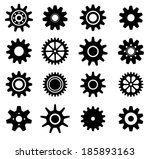 gear cogs wheels shapes vector... | Shutterstock .eps vector #185893163