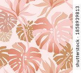 golden rose blush tropical...   Shutterstock .eps vector #1858939813