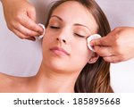woman is having cosmetic... | Shutterstock . vector #185895668