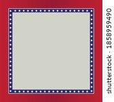 usa frame design for text  | Shutterstock .eps vector #1858959490