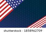 american flag patriotic back... | Shutterstock .eps vector #1858962709