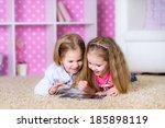 children using a tablet...   Shutterstock . vector #185898119