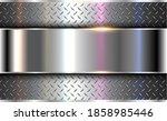 background silver metallic  3d...   Shutterstock .eps vector #1858985446