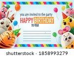 birthday party invitation card... | Shutterstock .eps vector #1858993279